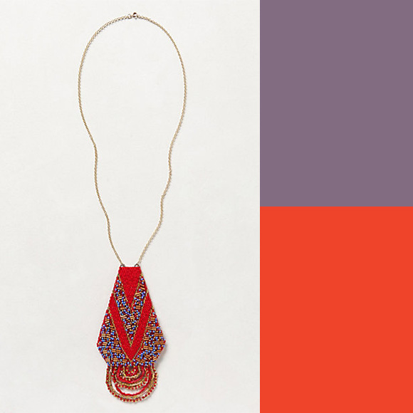 Anthropologie Transfixion Necklace, beaded, tribal